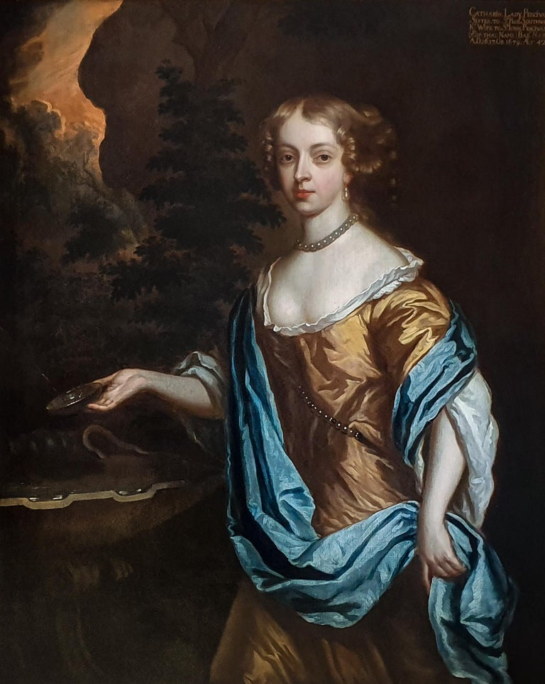 Portrait of Catherine, Lady Perceval (1637-1679) circa 1661 - Painting by Studio of Sir Peter Lely
