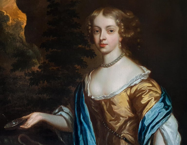 Portrait of Catherine, Lady Perceval (1637-1679) circa 1661 - Old Masters Painting by Studio of Sir Peter Lely