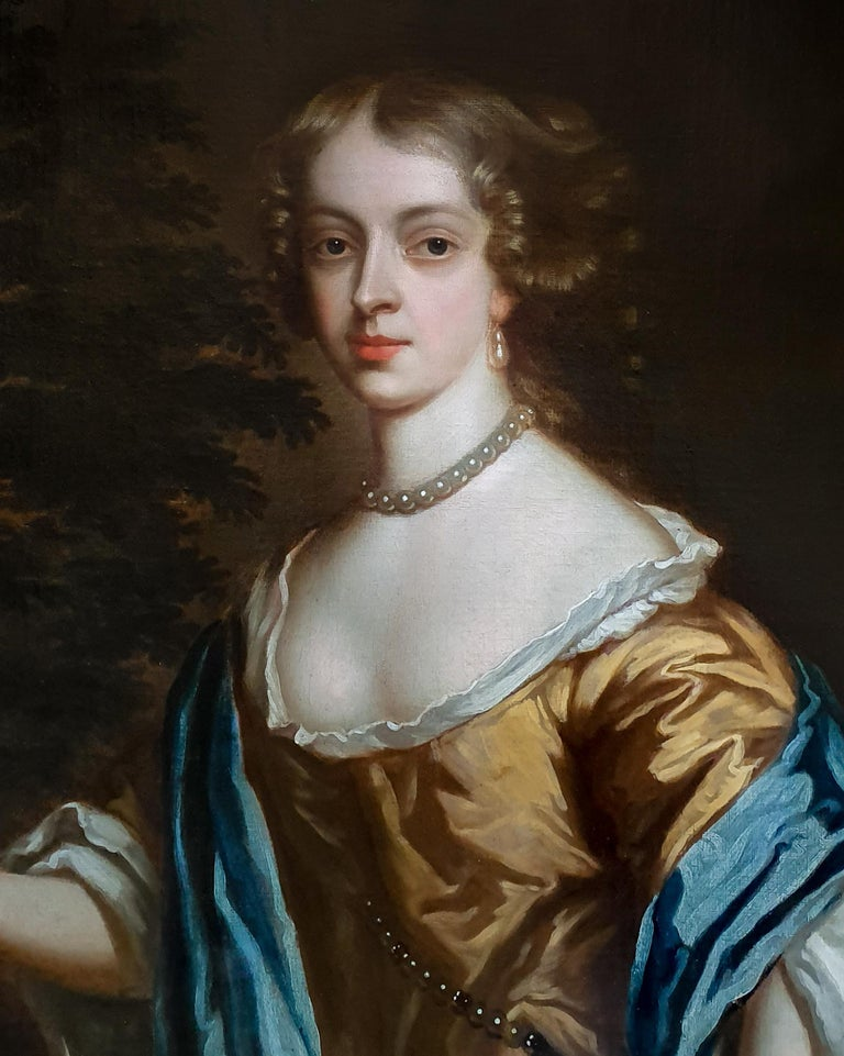 Portrait of Catherine, Lady Perceval (1637-1679) circa 1661 - Black Portrait Painting by Studio of Sir Peter Lely