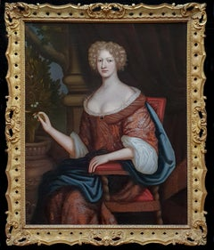 Portrait of a Lady, Large Scale, Fine Carved Period Frame