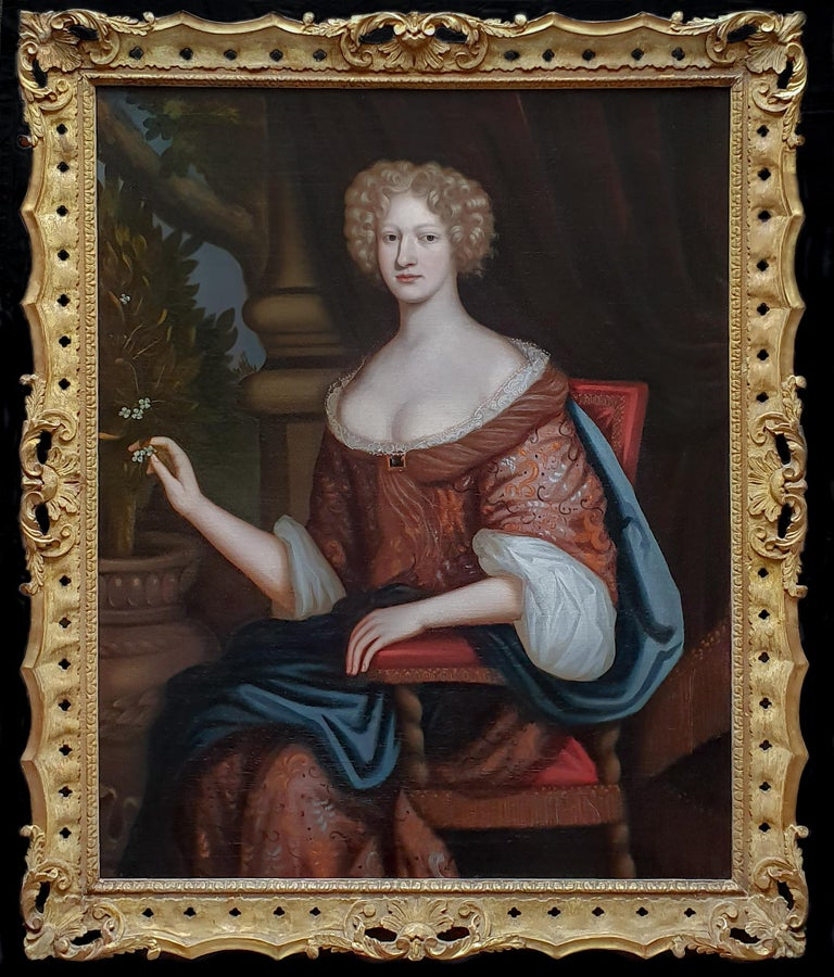 Circle of Henri Gascars Portrait Painting - Portrait of a Lady, Large Scale, Fine Carved Period Frame