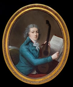18th Century Portrait of a Gentleman with a Six Single-String Guitar