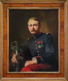 Portrait of a French Officer, Signed and Dated