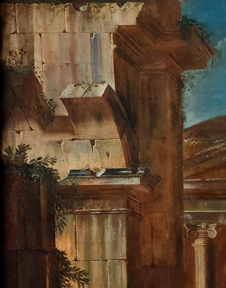 An Architectural Capriccio with Christ and the Centurion, 17th Century 1