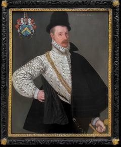 Portrait of Richard Tomkins (c.1532-1603), Elizabethan oil on panel