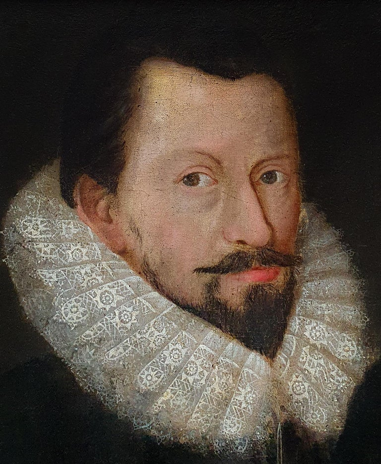Portrait of Sir Richard Bolton, circa 1620 - Painting by (Follower of) Marcus Gheeraerts