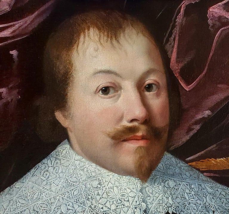 Portrait of a Gentleman with a White Collar and Cuffs holding a Pair of Gloves c.1630-45 Attributed to Huygh Pietersz. Voskuyl (1591-1665)  This luxurious work represents the epitome of the Dutch Golden Age portrait.  Painted circa 1630-45 it is a