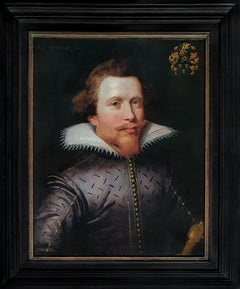 Portrait of Jan van Reynegom (1584-1640) date 1612; Antique Oil Painting