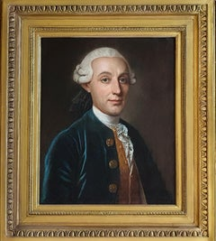 Portrait of a Gentleman, French, Antique Oil Painting, Quality Period Frame