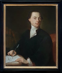 Portrait of a Gentleman Poet c.1760, Antique Oil Painting, Homer Virgil Gellert