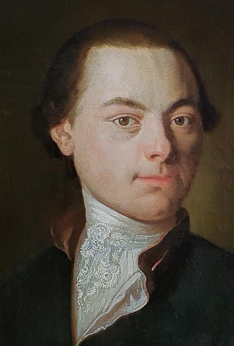 Portrait of a Gentleman Poet c.1760, Antique Oil Painting, Homer Virgil Gellert For Sale 2