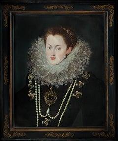 Portrait of Margaret of Austria, Queen of Spain & Portugal c.1607, Oil painting