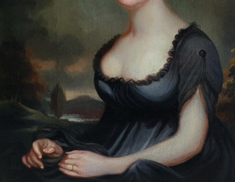 Portrait of Harriet Robinson (1787-1820) Antique Oil Painting For Sale 1
