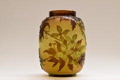 Vase Clematis - Glassart Glass Flowers Vintage