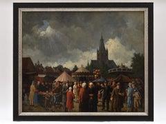 Fair in dutch city - Classical Art Netherlands Breda Realism