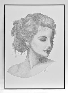 Innocent - Ink on Paper, Portrait, Maze, Dutch, Persian, Contemporary Art