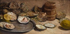Still Life with Oysters - Classical Art, Painting, Realistic, Dutch Artist