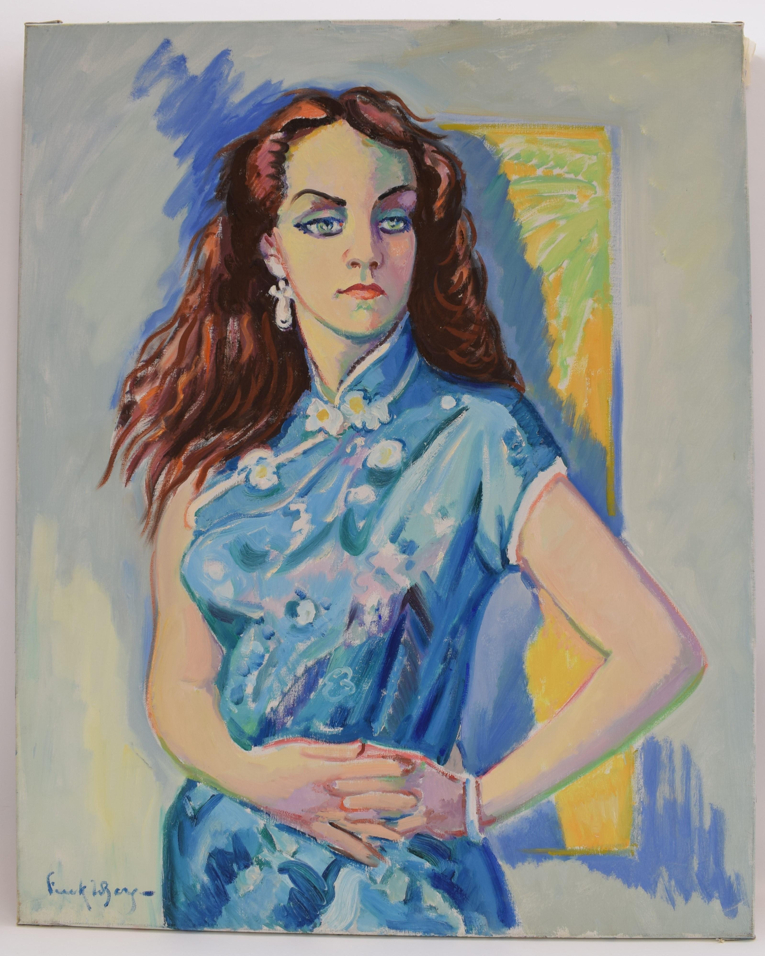 Margaretha C. - Oil Paint on Canvas, Fauvist, Dutch Artist, Portrait, Painting