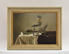 Still life dining table with oysters -