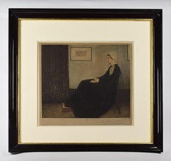 The artist's mother - Etching, Inspired by James Whistler
