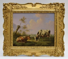 Cows in a Dutch landscape - Classical Art Animals