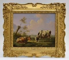 Cows in a Dutch landscape - Classical Art Animals