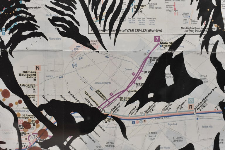 LIFE IS So Confusing At This Point- Pop Art, Map NYC, Female For Sale 2