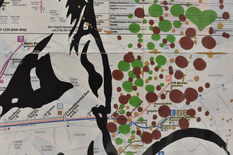LIFE IS So Confusing At This Point- Pop Art, Map NYC, Female For Sale 4