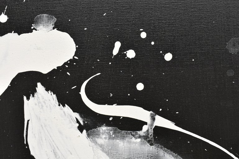 Evolution No. 2 - Abstract, Acrylic on Canvas, Black and White For Sale 12