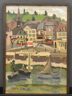 Honfleur, France - Expressionist colourfull