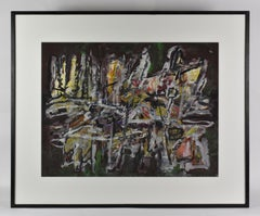 Dutch Artist Abstract Expressionism Mixed Media on Paper 1963/1964