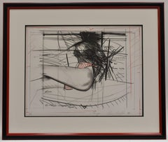 Chicago - Mixed media on paper, Dutch artist, female body, graphic work
