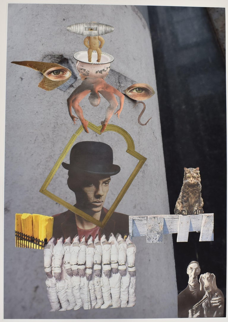 Space cowboy - photo collage, Dutch artist, paper, photography, contemporary - Mixed Media Art by Ton Geurts