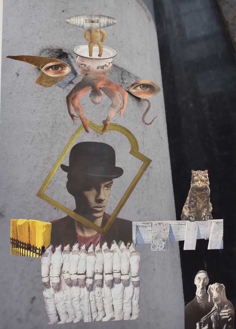 Space cowboy - photo collage, Dutch artist, paper, photography, contemporary - Contemporary Mixed Media Art by Ton Geurts