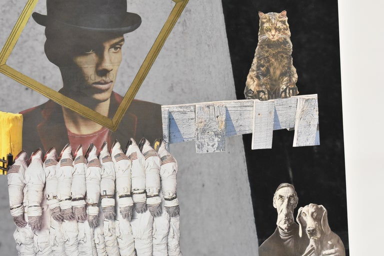 Space cowboy - photo collage, Dutch artist, paper, photography, contemporary For Sale 1