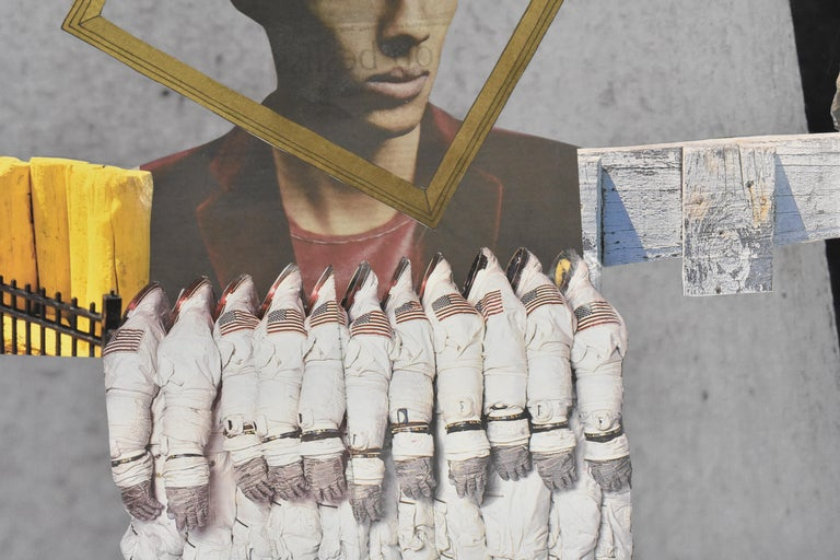 Space cowboy - photo collage, Dutch artist, paper, photography, contemporary For Sale 2