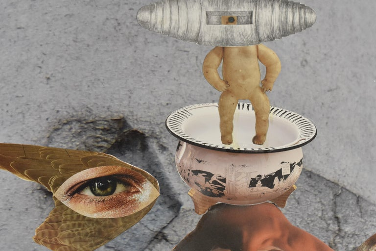 Space cowboy - photo collage, Dutch artist, paper, photography, contemporary For Sale 6