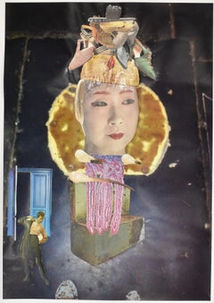 Japanese courtesan I - photo collage, Dutch artist, photography, contemporary