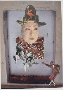 Japanese courtesan II - photo collage, Dutch artist, photography, contemporary