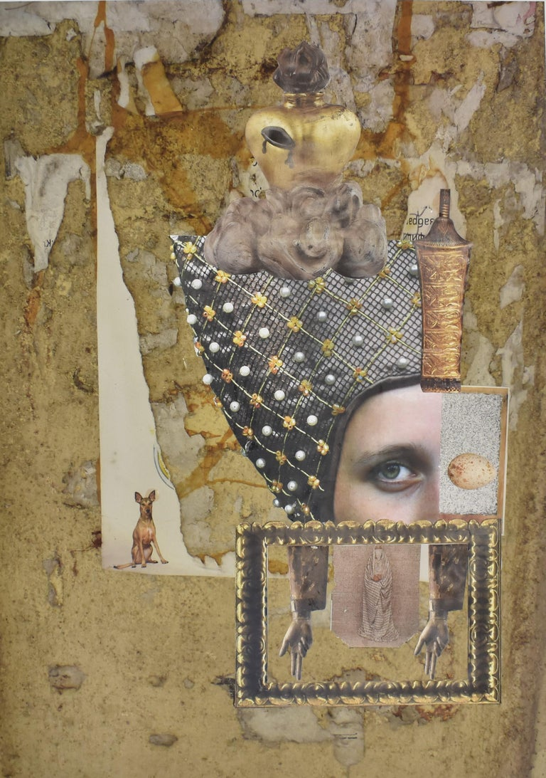 Florence - photo collage, Dutch artist, paper, photography, contemporary - Photograph by Ton Geurts