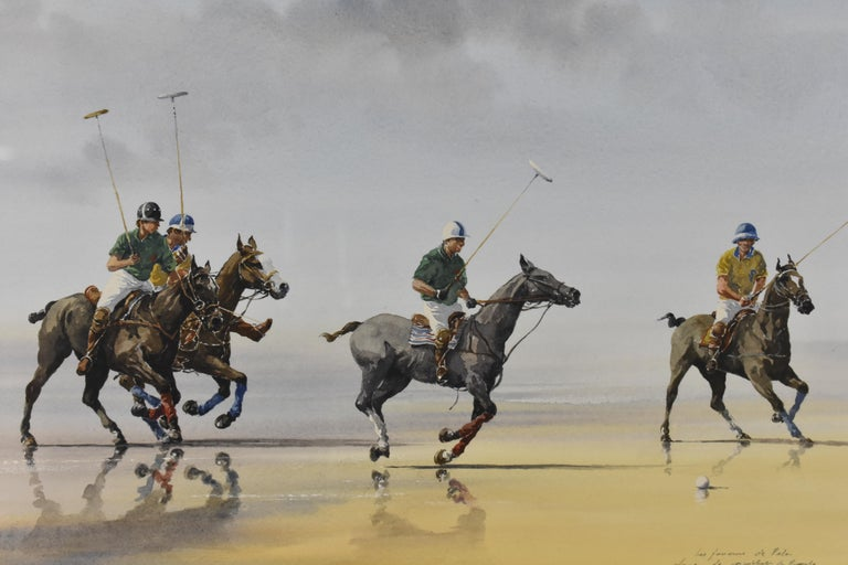 Alain Gaudin is an international artist. He was born in 1951 in France. His work primarily exists of very detailed painted coastal scenes with human figures and animals. His artwork is collected all around the world and is shown in international