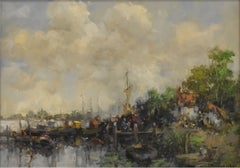 Dutch landscape with farmhouse - Dutch impressionist detailled