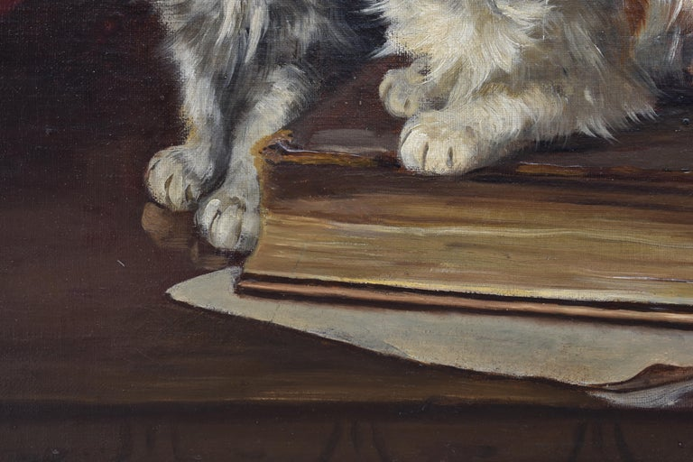 Two cats with book and insects For Sale 2