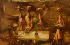 Strangers at the table - surrealist mythological