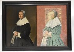 Foldable portrait Dutch women with newspaper - modern