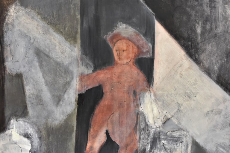 Child with Oed´s Lion, Abstract figure, Oil paint on canvas For Sale 4