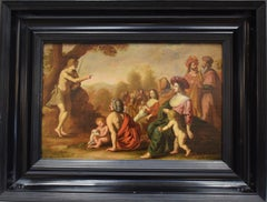 Jesus preaching among followers - 17th century religious dutch old master