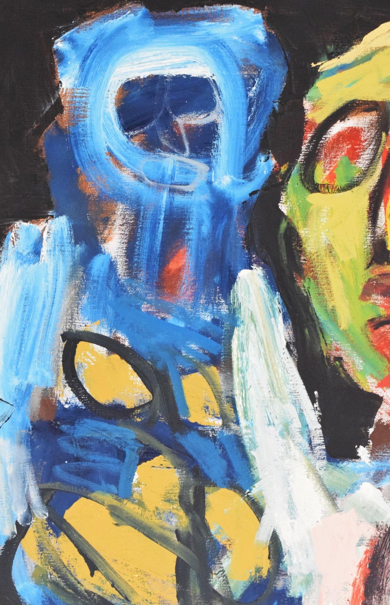 'Bedreigd volk', Threatened people, Martin van Wordragen, Oil paint on canvas For Sale 2