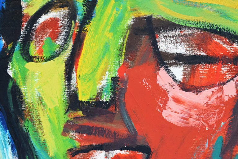 'Bedreigd volk', Threatened people, Martin van Wordragen, Oil paint on canvas For Sale 3