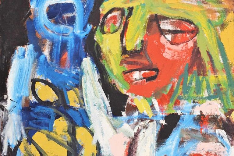 'Bedreigd volk', Threatened people, Martin van Wordragen, Oil paint on canvas For Sale 4